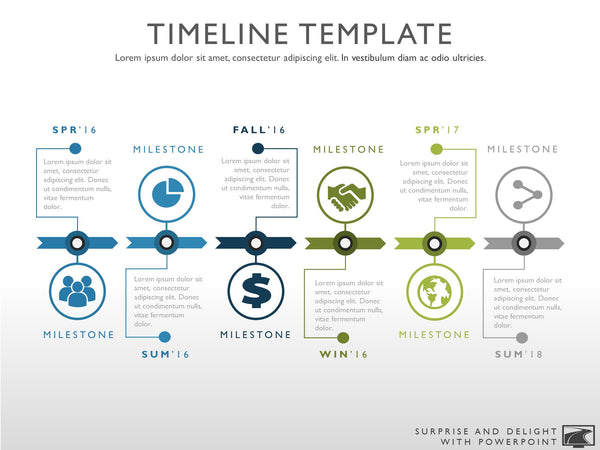 Six Phase Creative Timeline Graphic
