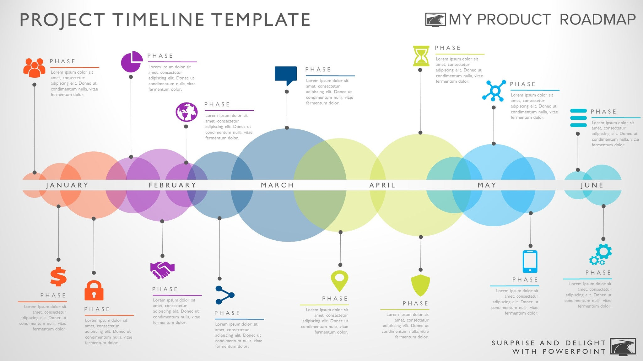 fifteen phase creative timeline slide