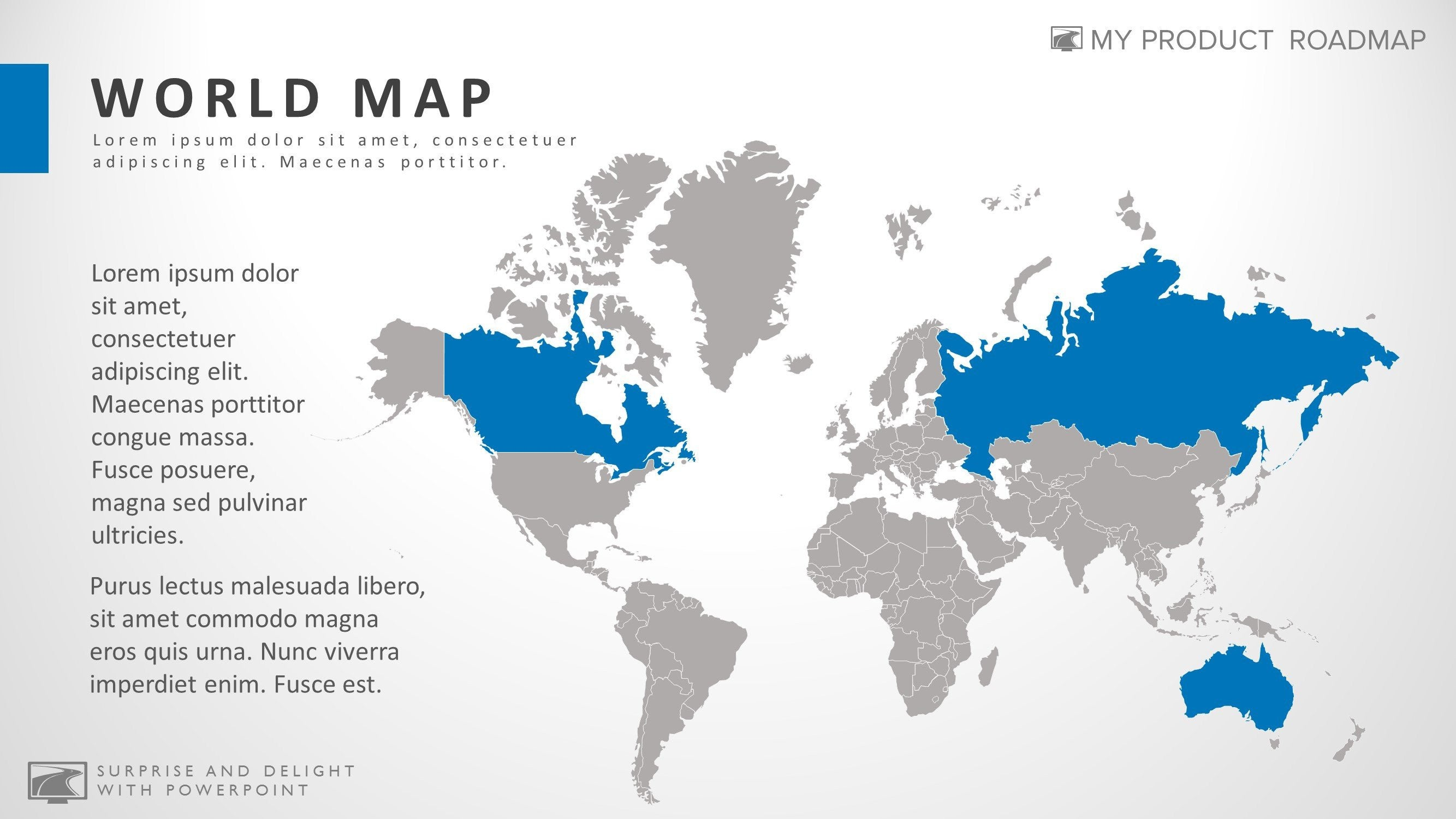 Image of: Powerpoint World Map Infographic Presentation Template
