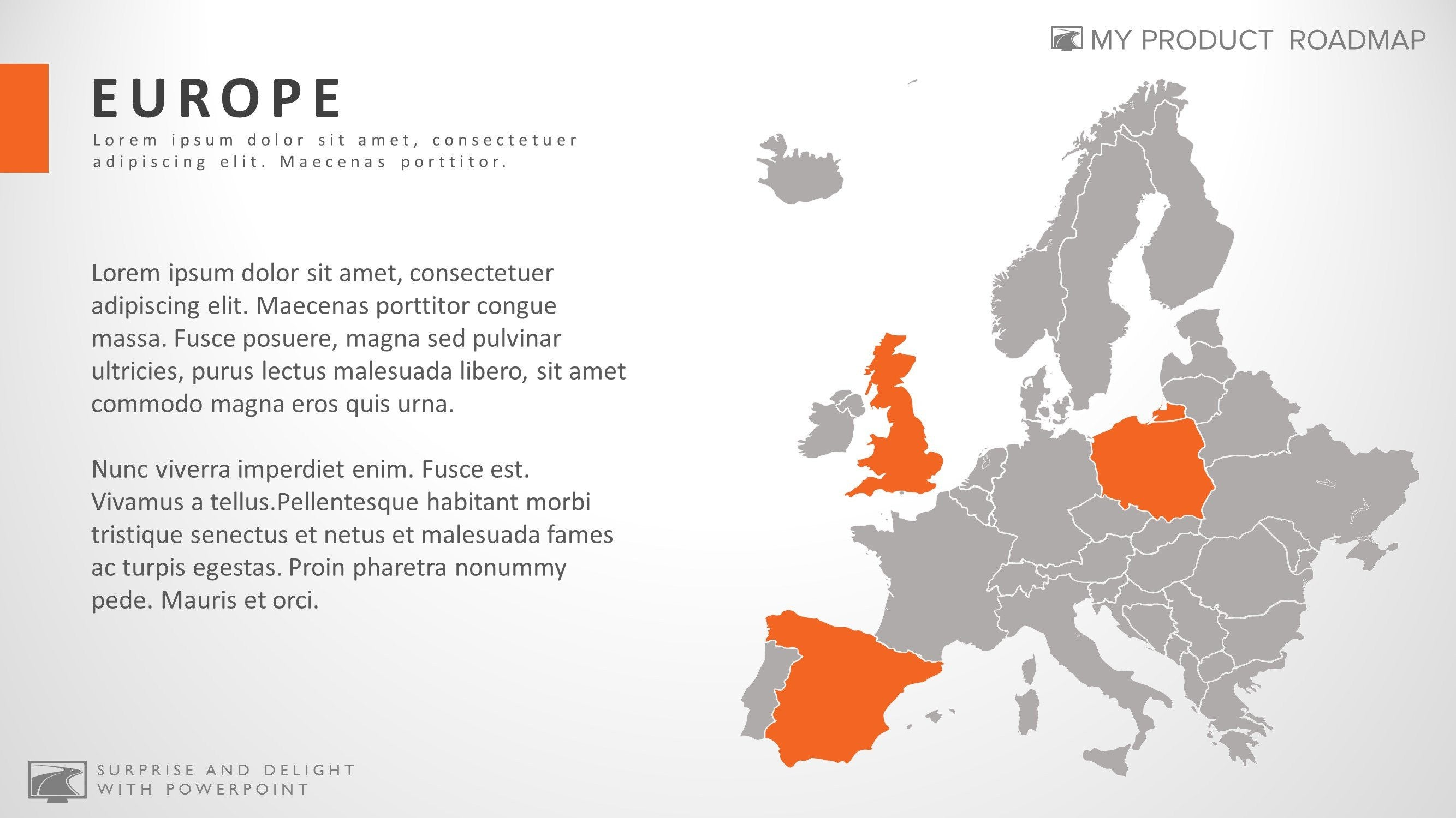 Europe professional powerpoint map smart art slide design gumiabroncs Choice Image