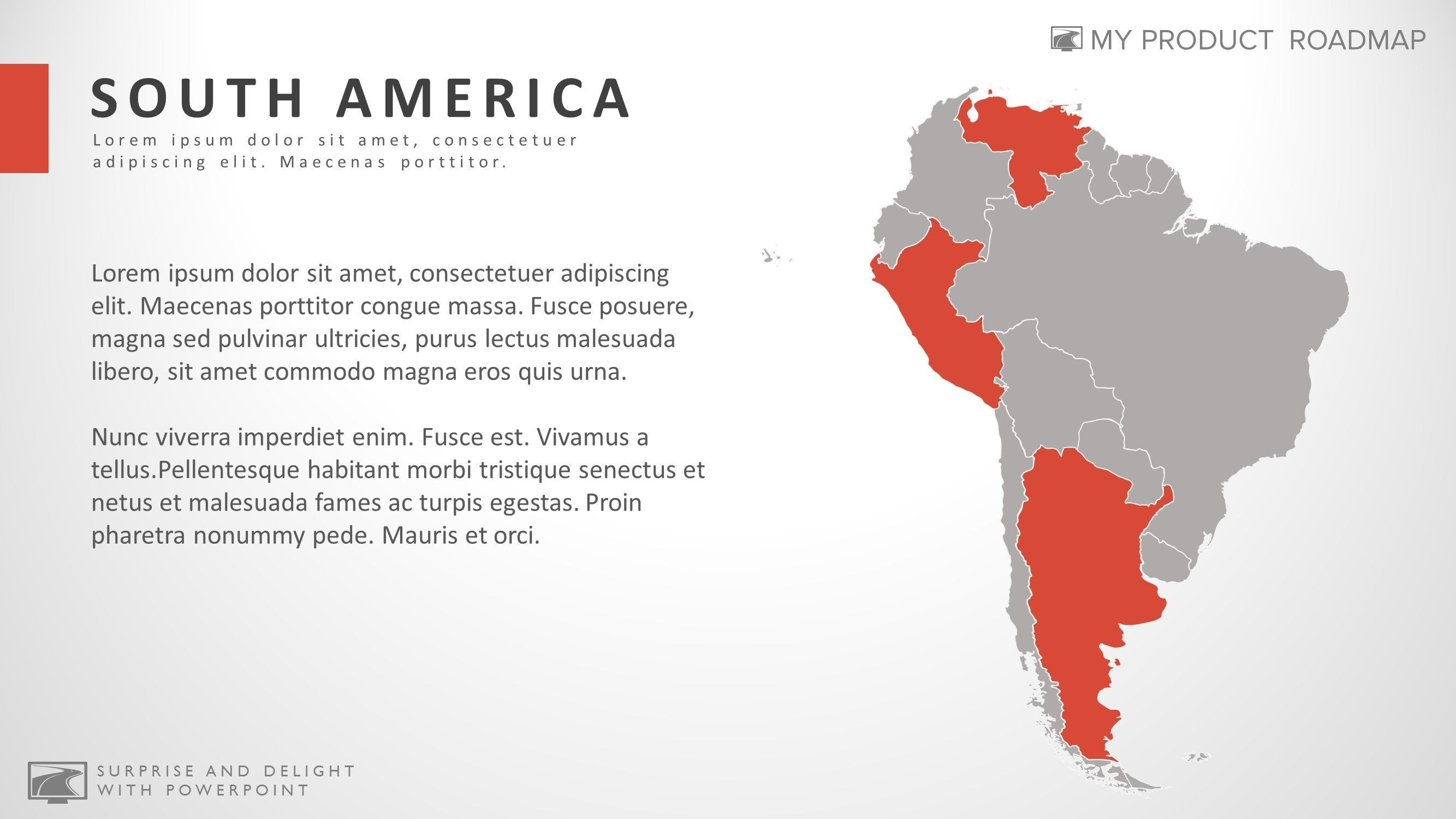 south america cool powerpoint map infographic theme template