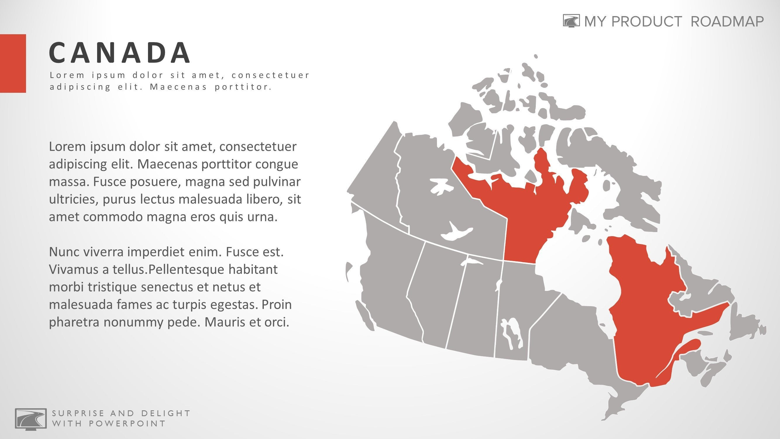 Canada professional powerpoint map smartart presentation design gumiabroncs Choice Image