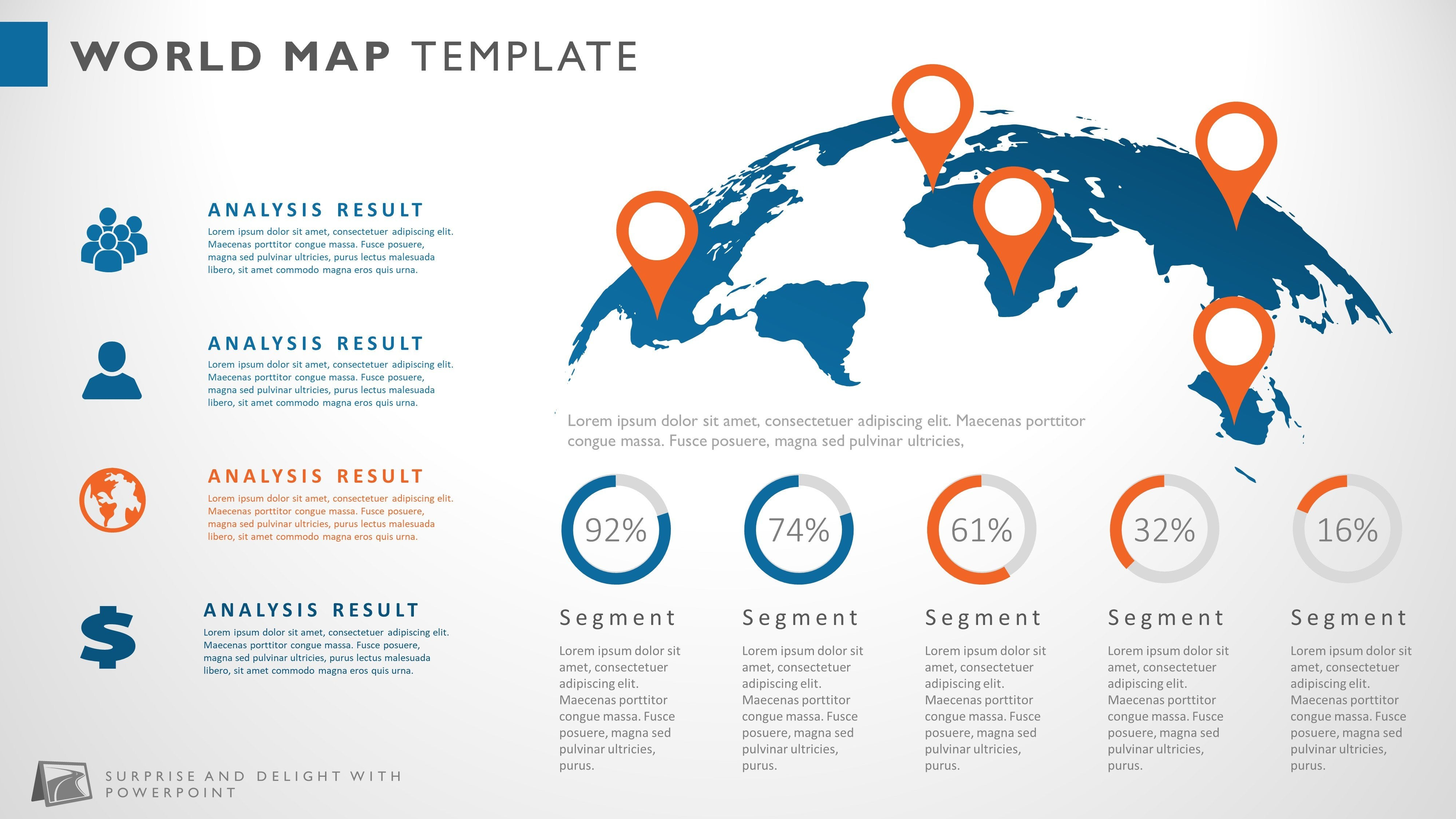 creative powerpoint map infographic presentation template