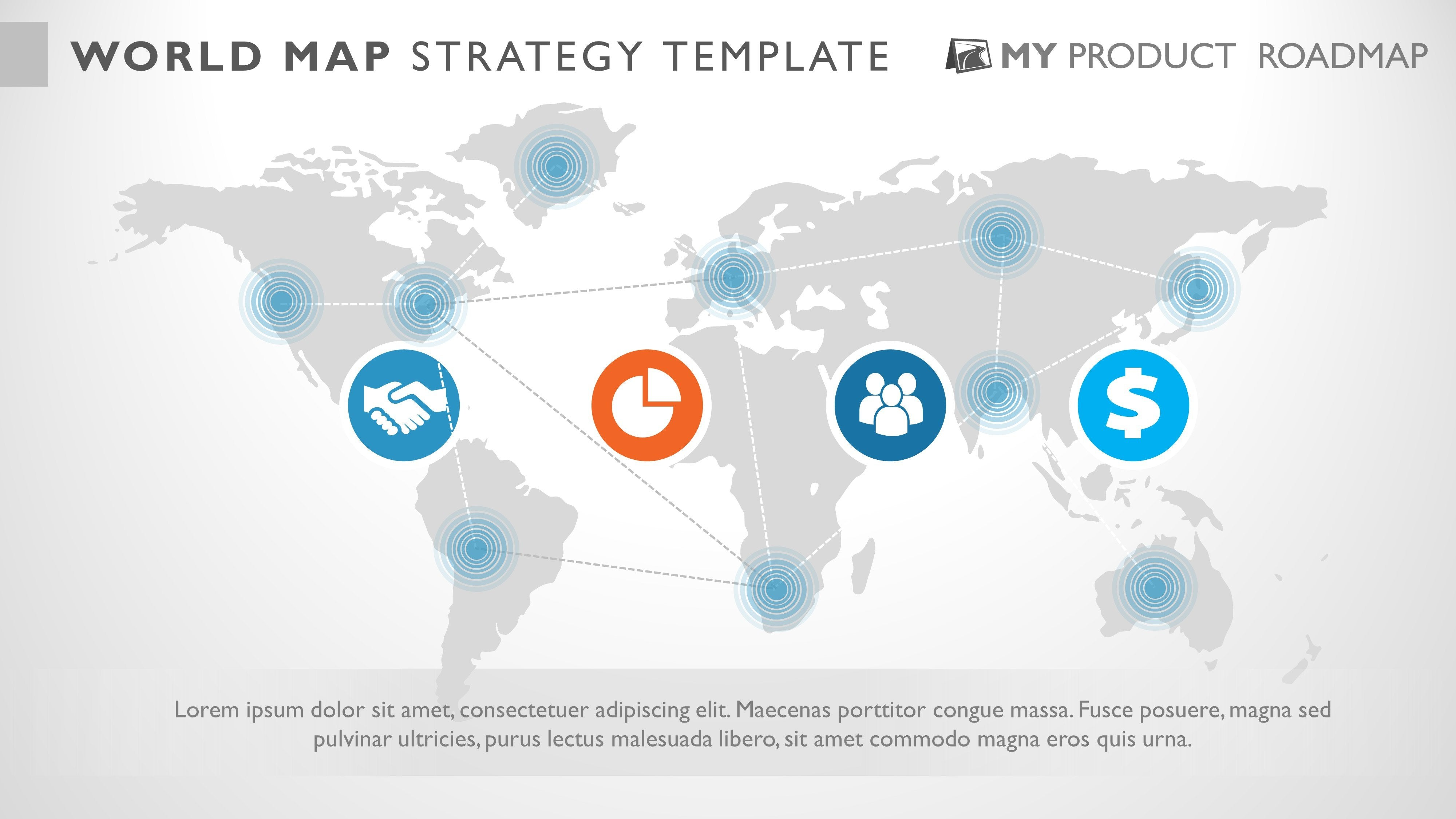 Free Powerpoint World Map Inforgraphic Presentation Template