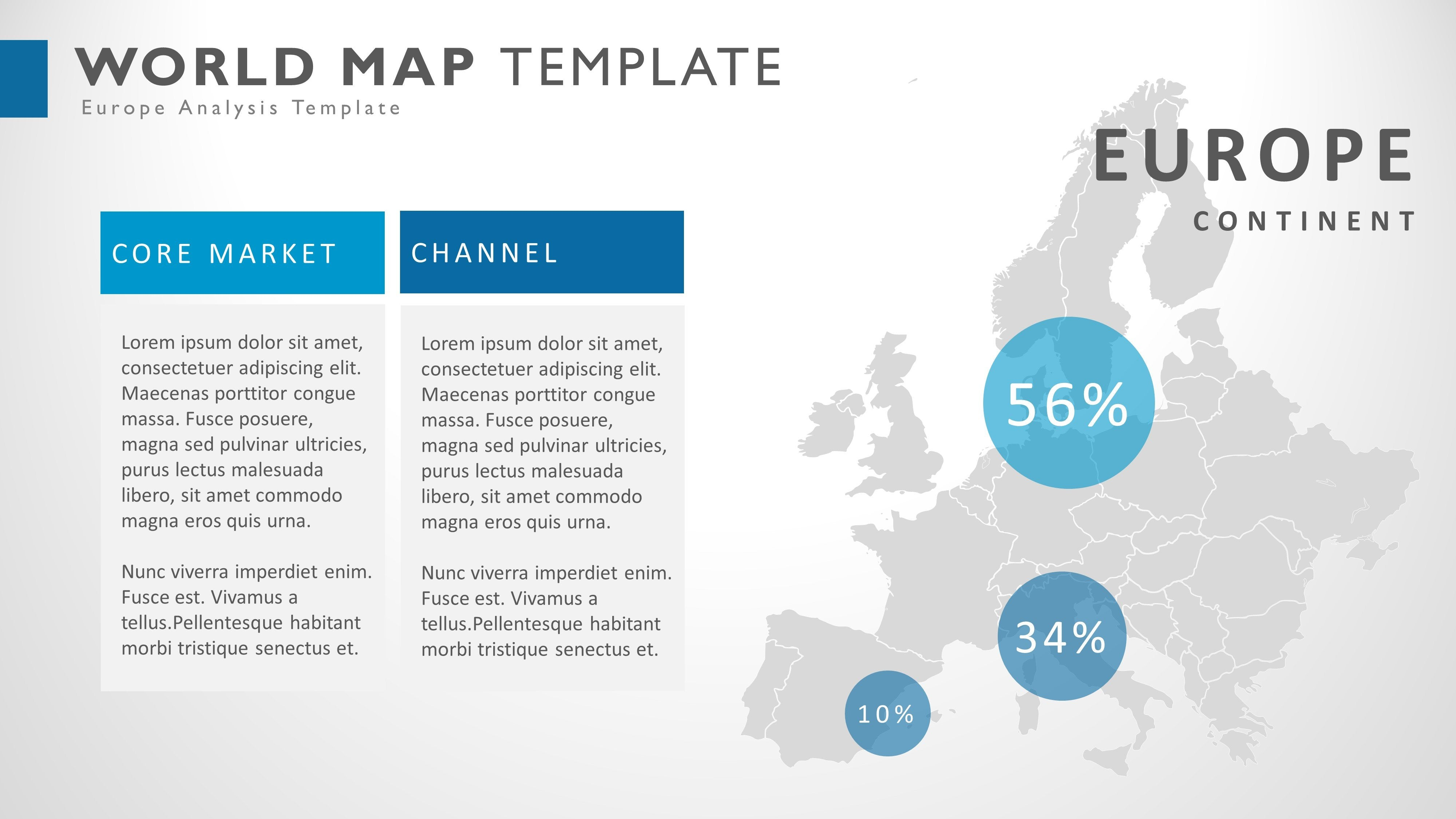 world microsoft powerpoint map infographic presentation template