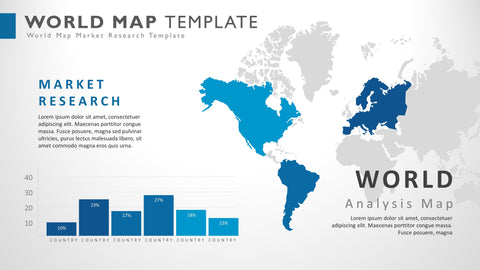 World Presentation Powerpoint Map Slide Template
