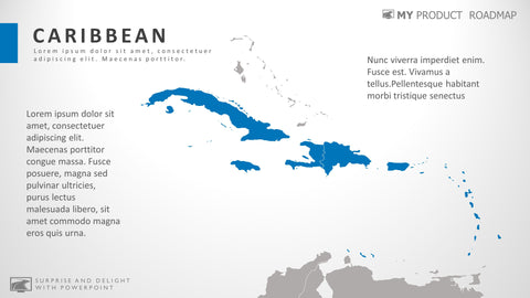 Caribbean MS Powerpoint Map Presentation Template