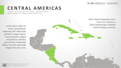 Central Americas Professional Powerpoint Map Design