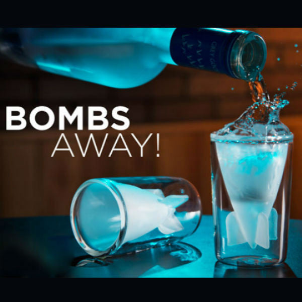 Bombs Away! Shot Glasses - Set of 2