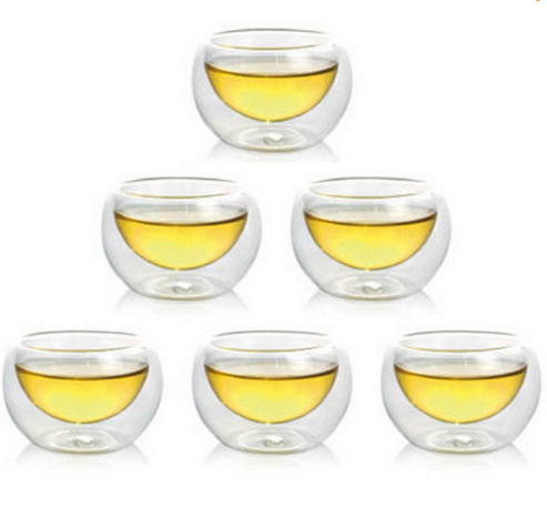 6 Piece Double Insulated Tea Cup Set
