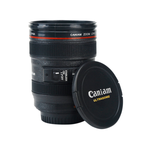 Camera Lens Coffee Cup (With Lid)