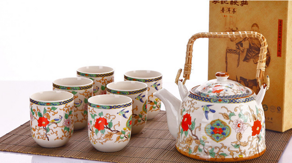 Jingdezhen 7 Piece Tea Set