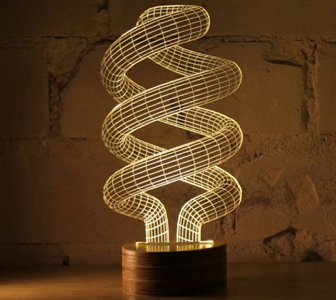 3D Illusion Spiral Lamp