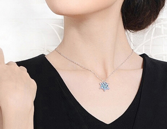 Frozen Crystal Snowflake Necklace - FREE + Shipping!