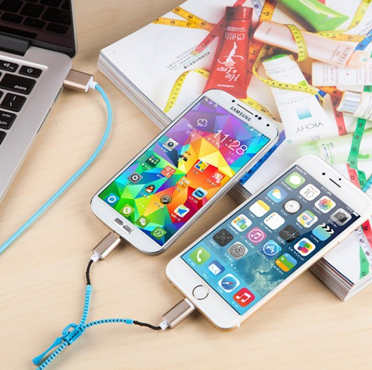 2-in-1 MicroUSB & Apple iPhone Lightning Charging Cable - More Colors