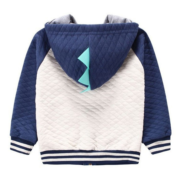 Boy's Quilted Dinosaur Hoodie - More Colors