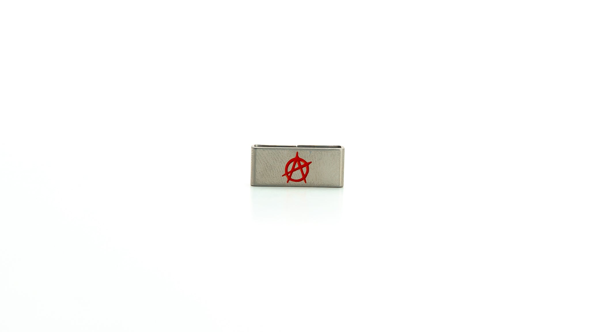 Anarchy stainless steel tag. Radtagz collectible charms. Anarchist. Charm. Collectible. Teen Angst.