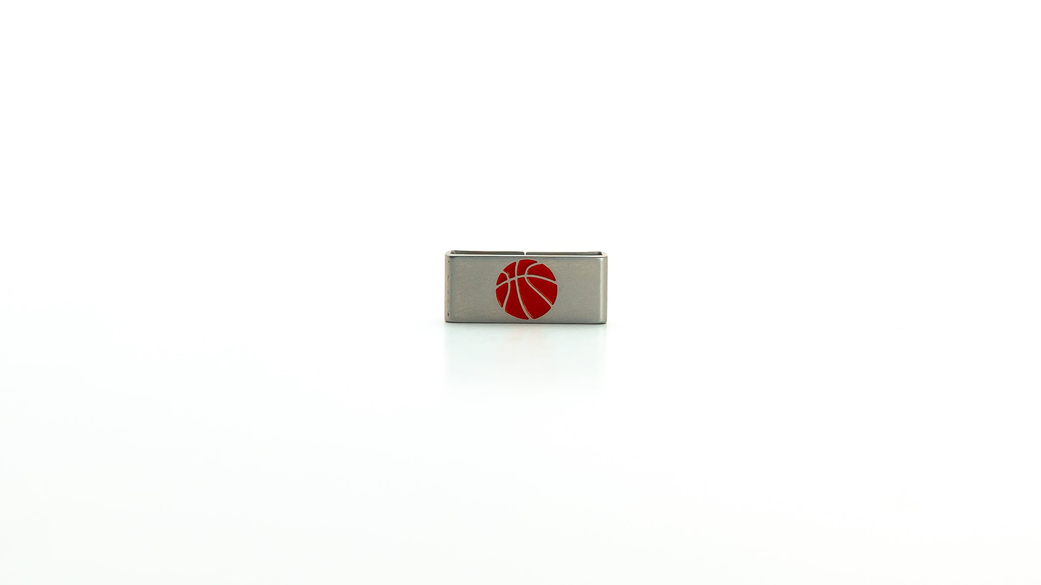 Basketaball stainless steel tag. Radtagz collectible charms.