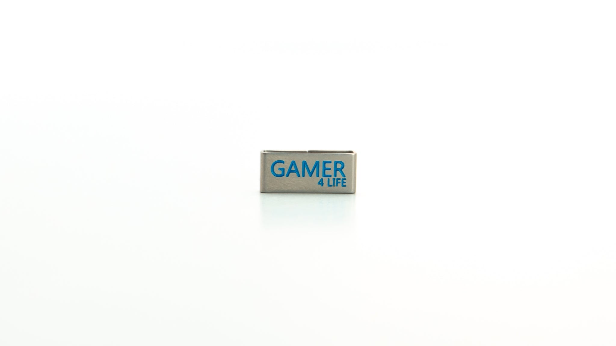 Gamer charm stainless steel tag. Radtagz collectible charms. Boys jewelry. Mens charms