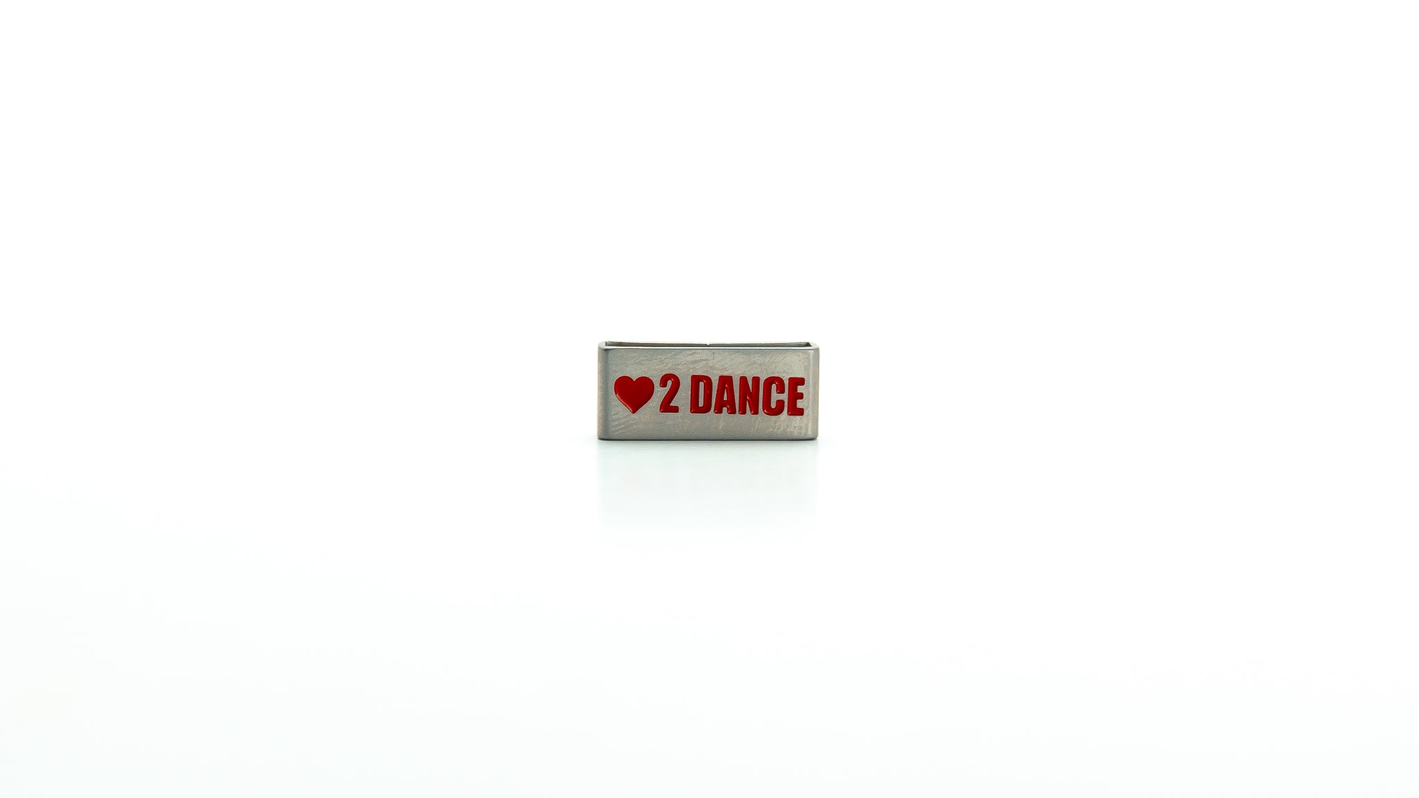 Dancer, love to dance stainless steel tag. Radtagz collectible charms. Girls charms