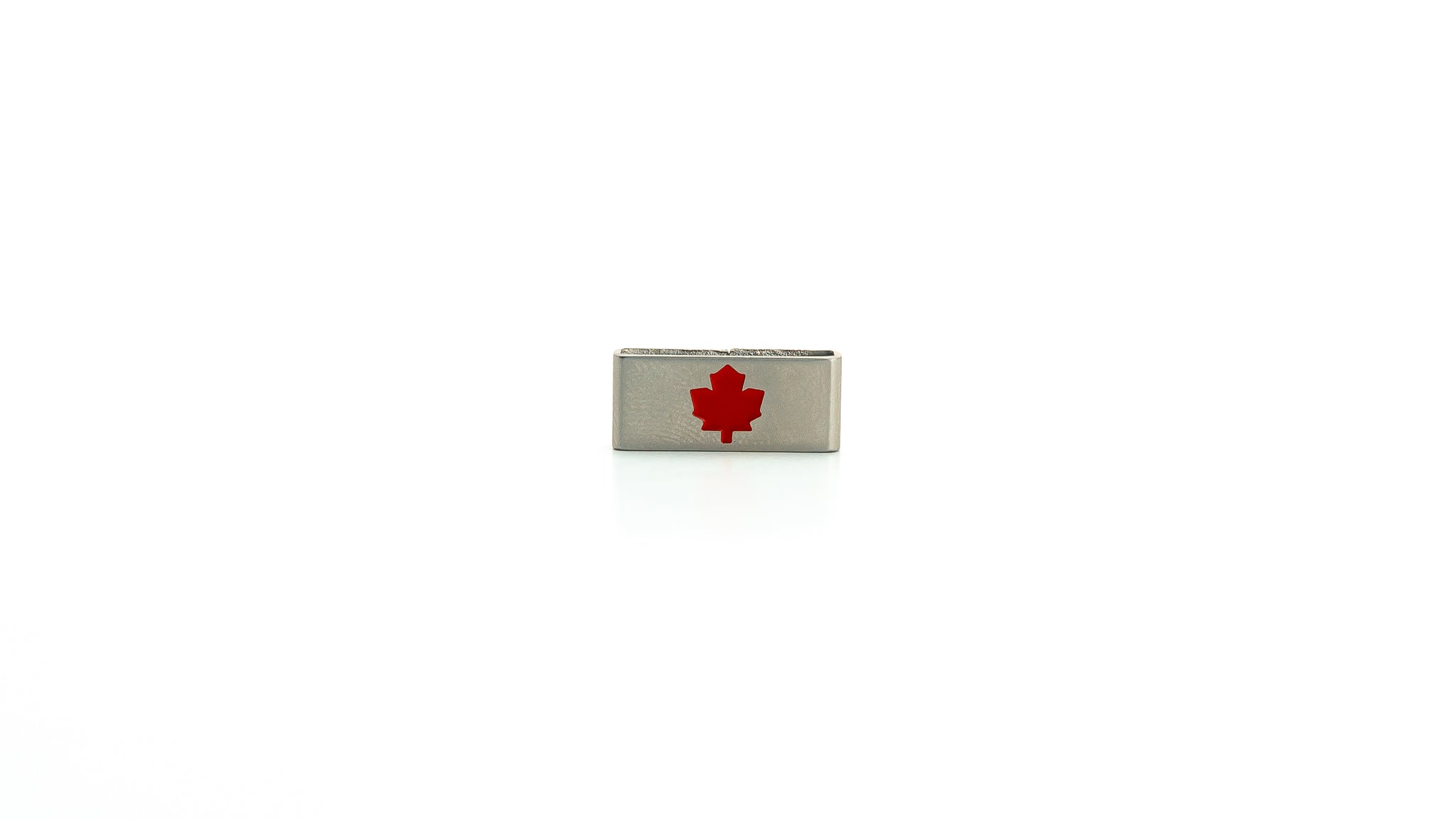 Maple Leaf stainless steel tag. Collection tag. Radtagz collectible charm tag. Mens stainless steel jewelry