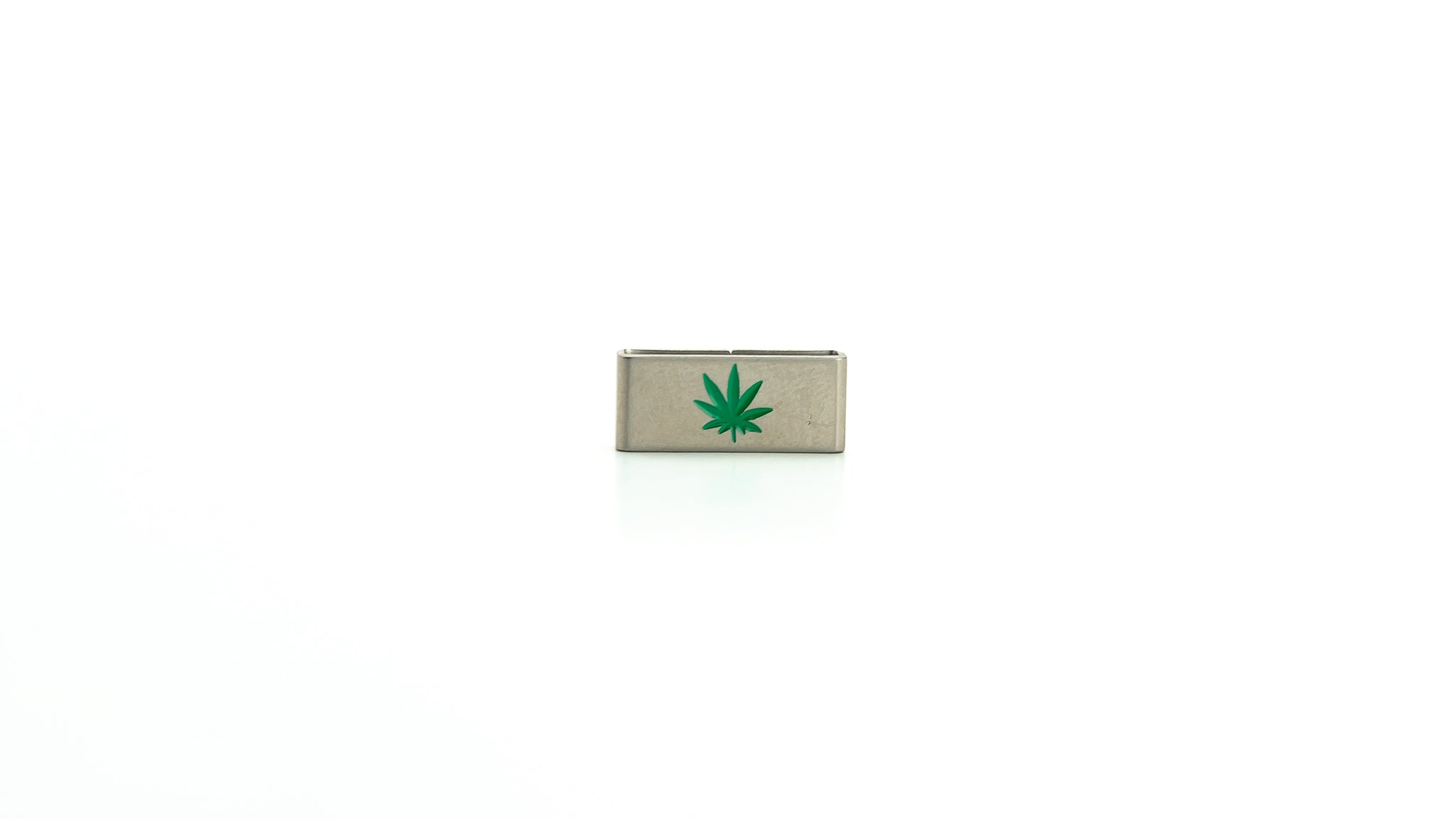 Weed marijuana stainless steel tag. Radtagz collectible charms. Weed accessories.
