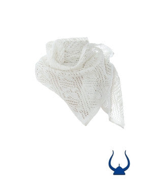 Ladies Wool Scarves White - Wool Accessories - Wool Sweaters