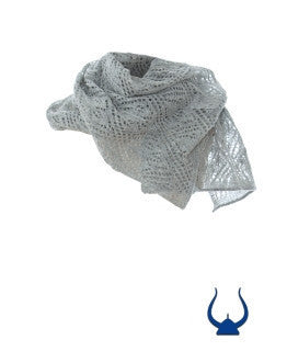 Ladies Wool Scarves Light Gray - Wool Accessories - Wool Sweaters