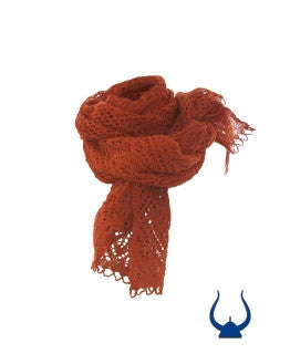 Ladies Wool Shawl Orange -  - Wool Sweaters