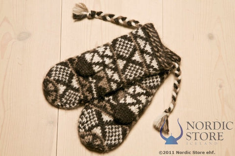 Goa Wool Mittens - Black - Wool Accessories - Wool Sweaters