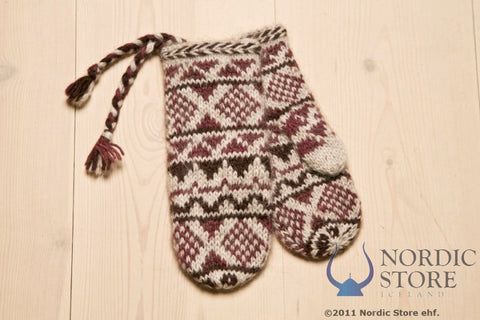 Goa Wool Mittens - Burgundy - Wool Accessories - Wool Sweaters