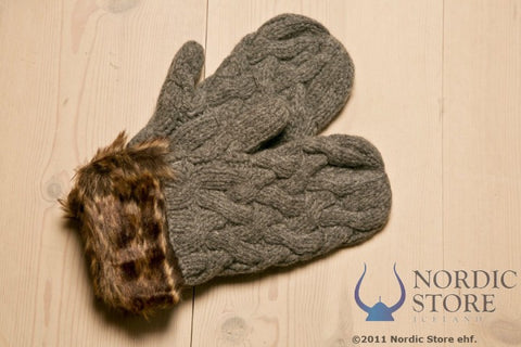 ARN Mittens - Grey - Wool Accessories - Wool Sweaters