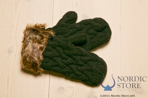 ARN Mittens - Black - Wool Accessories - Wool Sweaters