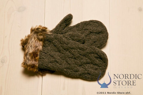 ARN Mittens - Brown - Wool Accessories - Wool Sweaters