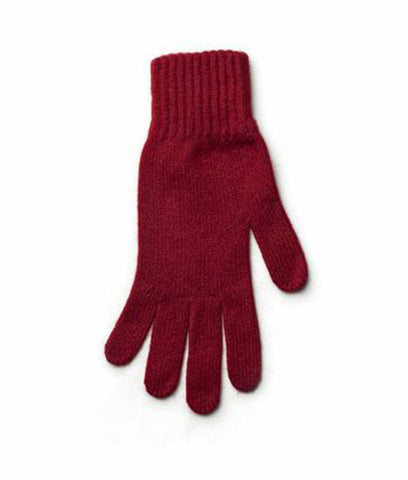 Angora Gloves Red - Wool Accessories - Wool Sweaters