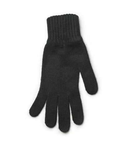 Angora Gloves Black - Wool Accessories - Wool Sweaters