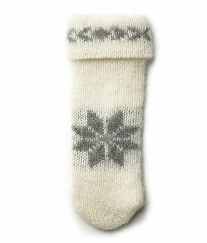 Brushed Wool Mittens White - Wool Accessories - Wool Sweaters