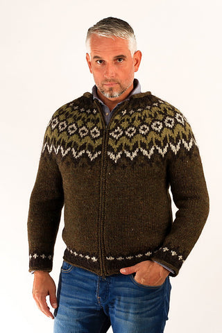 Fisherman Wool Cardigan - Icelandic Sweaters - Wool Sweaters