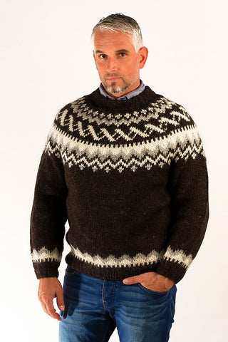 Traditional Wool Pullover Black - Icelandic Sweaters - Wool Sweaters