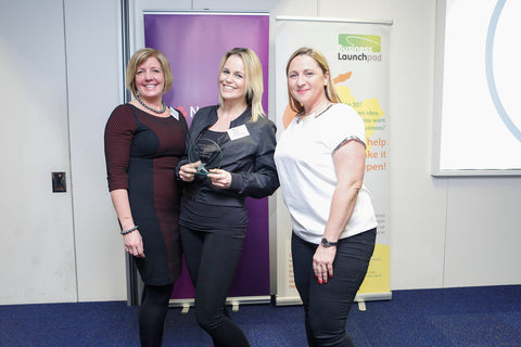 Squaterella and South West Swimming School during Business Launchpad Awards