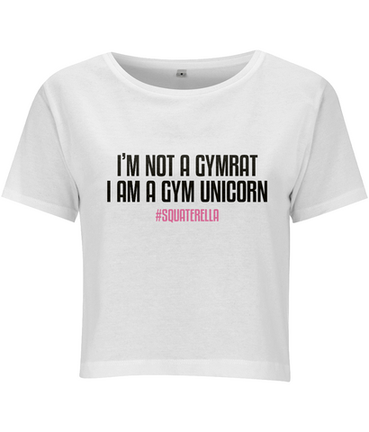 Cropped Shirt Gym Unicorn