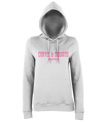 Hoodie Coffee & Squats Pink