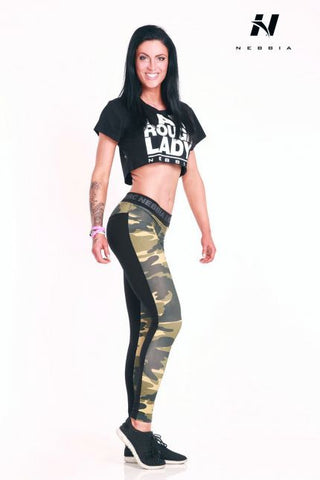 Nebbia Camo Leggings Combi 246 - Green