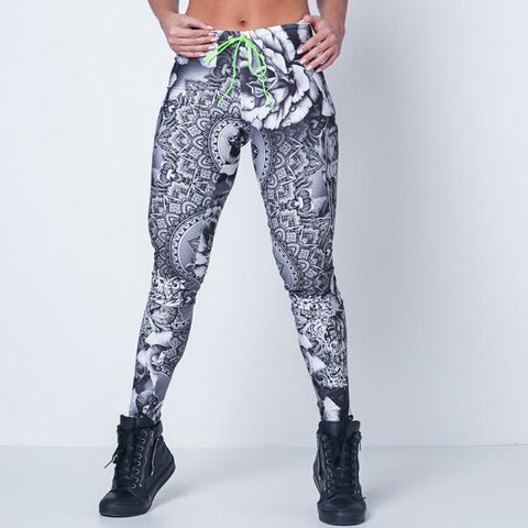 LABELLAMAFIA - Black Roses Legging