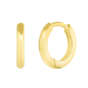 HOOP HUGGIE EARRINGS 9 MM - MAKKO