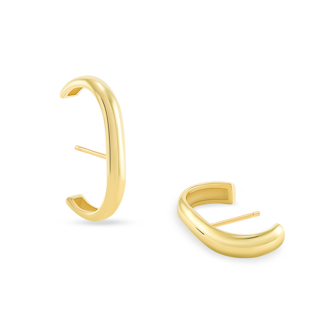 THICK LONG EAR CUFF EARRINGS - MAKKO