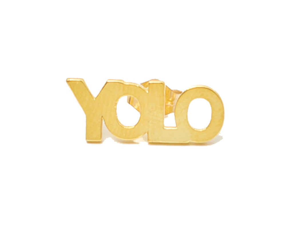 YOLO STUD EARRINGS