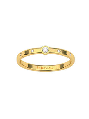 CIRCLE STAR RING - MAKKO