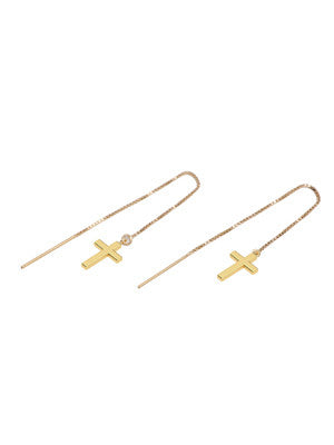 CROSS THREAD EARRINGS - MAKKO