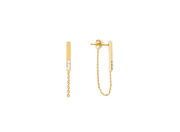 CRYSTAL BAR CHAIN EARRINGS